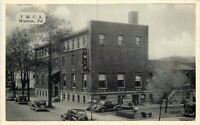 1940s YMCA automobiles Warren Pennsylvania Smoke  Shop Dexter postcard 393