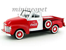 MOTORCITY CLASSIC 1953 CHEVROLET COCA COLA COKE PICK UP TRUCK 1/32 RED WHITE