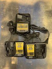 Dewalt Battery Chargers (3) 12-20volts