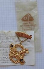 fasnet orden alt anstecker metall flugzeug zeppelin frittlingen 1975 roland C II