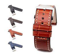 "BOB Marino Alligator Watch Band, Model ""Firenze"", 24/24 mm, 4 colors, new!"