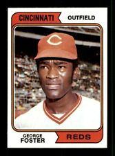 New listing 1974 Topps #646 George Foster Reds NEAR MINT *7w