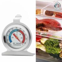 5X Stainless Steel Refrigerator Freezer Thermometer Fridge Dial Type Hang Stand