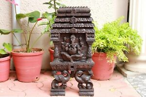 Ganesha Statue Gopuram Wall Panel Hindu Temple Ganesh Sculpture Puja Home Decor