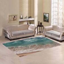 D-Story Sweet Home Art Floor Decor Beach Sea and Ocean Wave Area Rug Carpet 7x5