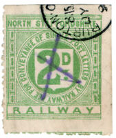 (I.B) North Staffordshire Railway : Letter Stamp 2d (Burton-on-Trent)