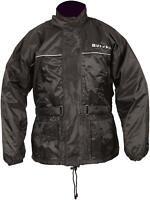 Buffalo Sabre Waterproof Black Motorcycle Over Jacket Coat Rain Water Proof SALE