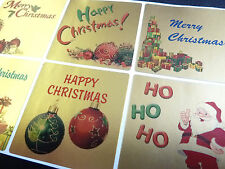 Merry, Happy Christmas Greeting Stickers, Labels for Cards, Wrapping XG-60SQ