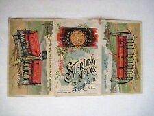 "Victorian Trade Card for ""Sterling Mfg Co"" w Colored Pictures of Plowing Equip *"