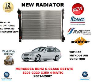 FOR MERCEDES BENZ C CLASS ESTATE S203 C320 C350 4 MATIC 2001->2007 NEW RADIATOR