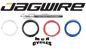 4mm Bike Outer Gear Cable & Ferrules. Jagwire LEX Housing Black Red Blue White