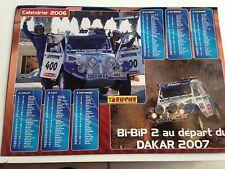 Dossier de presse calendrier CITROEN 2 CV BIP BIP Rally Paris Dakar 2007