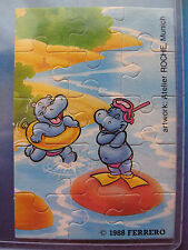 PUZZLE  HAPPY HIPPOS  HAPPYPOTAMI 1988   @@ 3 @@  KINDER