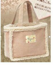 Japanese Magazine Appendix Flower Soft Purse Tote Handbag Bag berber Fleece Cute