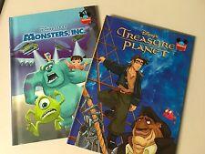 MONSTERS, INC. DISNEY PIXAR  and Disney Treasure Planet, Hardcover 2 books