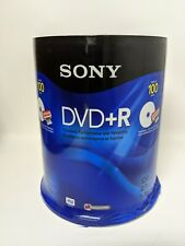 Sony DVD+R 4.7 GB Recordable DVDs 100 Disc Pack Factory Sealed