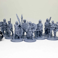 Melee Skeletons Dungeons and Dragons DnD D&D Mini 28mm 32mm