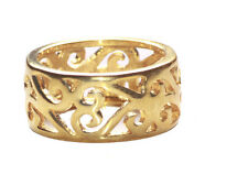 Ladies Unique Gold Refined Heirloom Intricate Detailed Regal Ring (A18/Zx66)