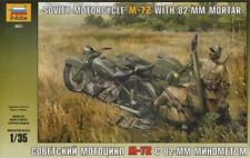 Zvezda 1/35 Soviet Motorcycle M-72 with 82mm Mortar # 3651
