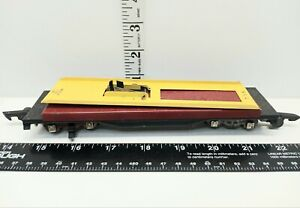 Vintage American Flyer 715 Auto Dump Car Only Great Shape 1950 Yellow Red NO CAR