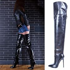 NEW! -1500€- MAURIZIO PORTONI Designer over knee thigh Boots EU36/37