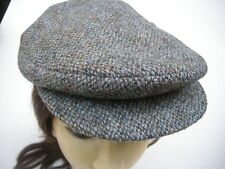 Flat Cap Men's Vintage Hat Bates London Wool Tweed Cabbie Newsboy Size 56 6-7/8