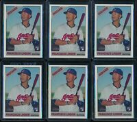 2015 Topps Heritage High Number Francisco Lindor RC 6 Card Lot #717 SP Indians