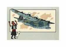 HERGé/TINTIN 195x  CHROMO L AVIATION 1939/45  N°17 BE-