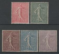 "FRANCE STAMP 129 / 133 ANNEE 1903 "" SEMEUSE LIGNEE 5 TIMBRES "" NEUF xx TTB  P566"