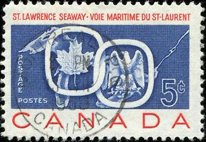 Canada Scott 387 Seaway and National Emblems, Used SOTN (18645)