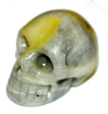 Iona Marble Skull - Powerful Healer- Druids stone 40mm wide #9330