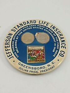 vintage jefferson standard life insurance co   paperweight