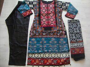 Limelight lawn design  Embroidered stitched  salwar kameez summer clearance £25
