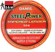 D.A.M Damyl Steelpower Tapered Leader 10x15m / 0.20 - 0.50mm / 2.5 - 12.5kg