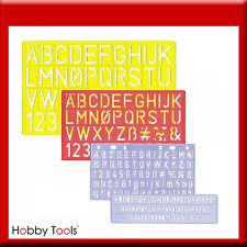 Set Schriftschablone Schrift-Schablonen Ziffern Buchstaben 0,5 1 2 3 cm Schrift