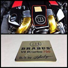 "BRABUS V8 Biturbo 700 Style Emblem/Shield ""Built by Brabus"""