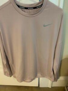 Nike Women's Dusty Pink Long Sleeve Dri-Fit PullOver