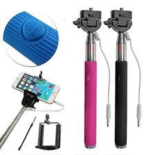 New Mini Selfie Stick Monopod Mobile Phone holder Telescopic Wired Remote button