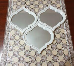 Set of 3 Mirrors  melena Moroccan - White