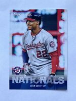 2020 Topps Utz Regional Parallel Card Juan Soto Washington Nationals #16