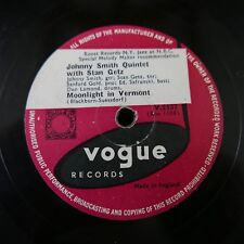 78rpm JOHNNY SMITH QUINTET & STAN GETZ moonlight vermont / tabou Vogue 2137