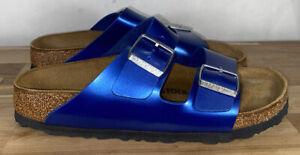 Birkenstock Arizona Rubber Blue Slide Sandal Women size 40 Women's Size 9