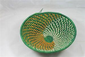 Natural Large Handwoven Art Deco Fruit Bow Vegetable Basket Free Postage