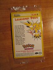Sealed ZAPDOS Pokemon PROMO Card 23 Rare Black Star Set Legendary Lightning Bird