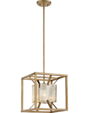 Stanza 1 Light  Pendant Fixture Nuvo Lighting 60-6273 - Antique Gold Finish