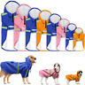 Waterproof Dog Raincoat Dog Doggie Rain Coat PU Leather Jacket Rain Wear M-3XL