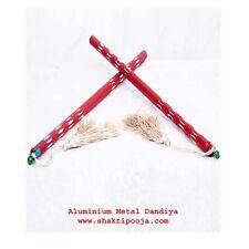 Aluminium Metal Garba Dance Dandiya Stick - (4 Pcs) - 2 Pair - USA seller