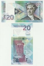 Scotland 20 Pounds 2016 UNC SPECIMEN Test Note POLYMER Banknote - David Hume