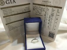 GIA certified hearts and arrows  14k white gold diamond ring