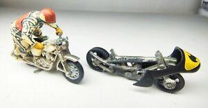 VINTAGE CORGI JUNIORS  23 'DC Comics' BATMAN  BATBIKE & BRI 76 Motorcycle Bundle